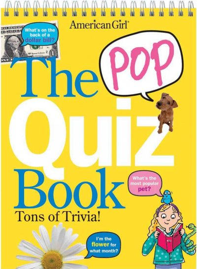 The Pop Quiz Book (American Girls Collection Sidelines) cover
