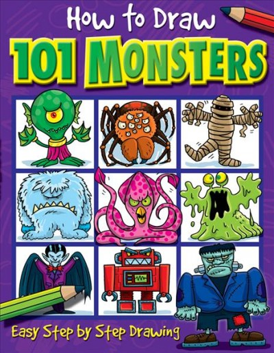 How to Draw 101 Monsters: Easy Step-by-step Drawing (How to draw) cover