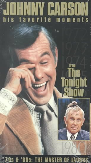 Johnny Carson - His Favorite Moments from The Tonight Show - '70s & '80s, The Master of Laughs [VHS] cover