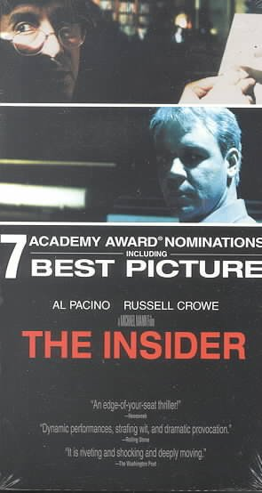 The Insider (Widescreen Edition) [VHS] cover
