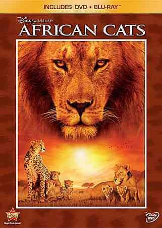 Disneynature: African Cats (Two-Disc Blu-ray / DVD Combo in DVD Packaging) cover