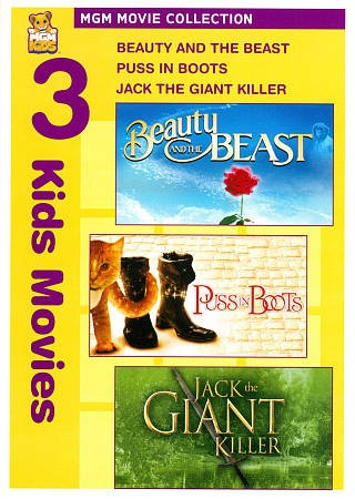 Beauty and the Beast / Puss in Boots / Jack the Giant Killer cover