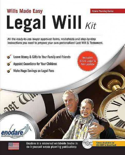 Legal Will Kit. Wills Made Easy, United States ...