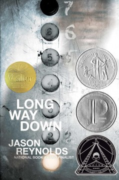 """book cover """"Long Way Down"""" by Jason Reynolds"""