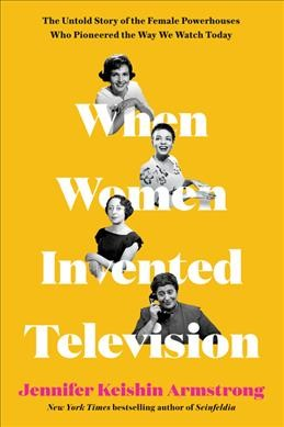 gold background with 4 black and white images of women interspersed above the words in the book title