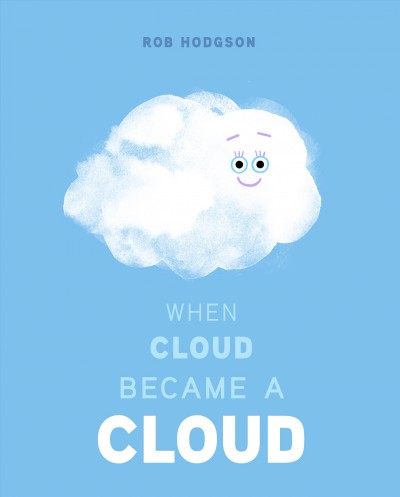 Blue background, picture of an animated cloud