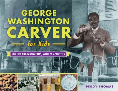Photograph of George Washington Carver working in a lab