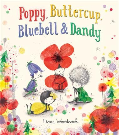 Picture of an animated Poppy, Buttercup, Bluebell, and Dandelion surrounded by colorful flowers.