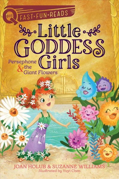 Animated picture of a little girl talking or singing with animated blue, pink, purple, white, and orange talking or singing flowers.