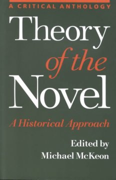 Theory of the Novel: A Historical Approach